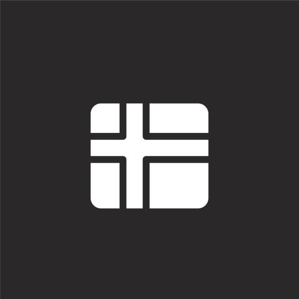 bildbanksillustrationer, clip art samt tecknat material och ikoner med finland-ikonen. fyllt finlands ikon för webbdesign och mobil, applikationsutveckling. finland-ikonen från fyllde land flaggor samling isolerad på svart bakgrund. - stockholm