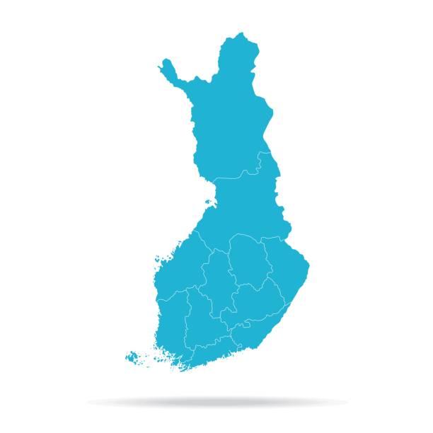 40-핀란드-용암 블루 빈 q10 - 핀란드 stock illustrations