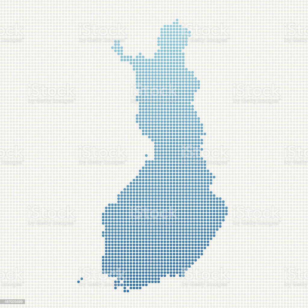Finland Map Blue Dot Pattern royalty-free stock vector art