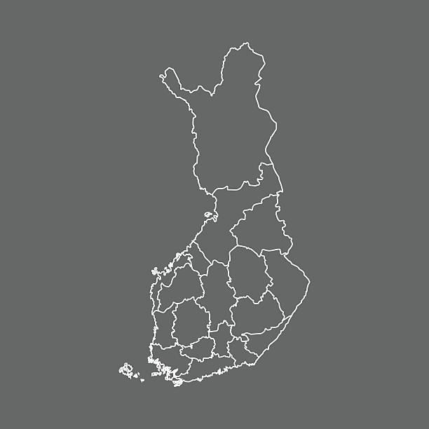 Finlandia Map – artystyczna grafika wektorowa