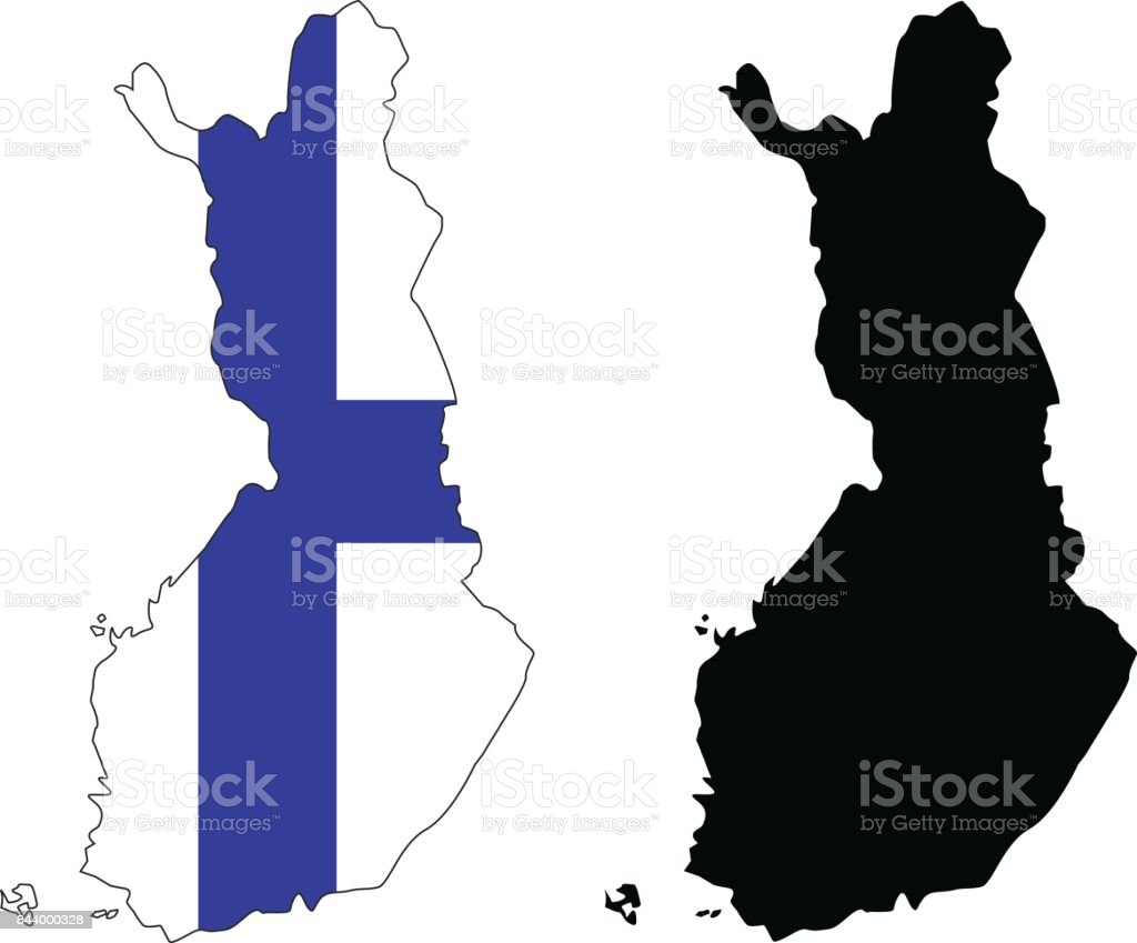 Finland maps vector art illustration
