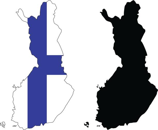 finland maps - finnish flag stock illustrations, clip art, cartoons, & icons