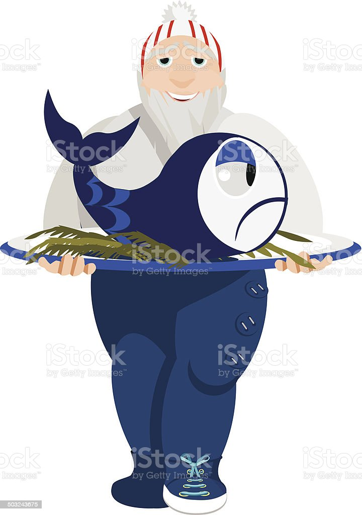 finnish cook vector art illustration