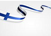 Finnish flag background. Vector illustration