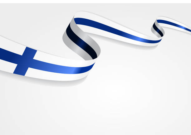 finnish flag background. vector illustration - finnish flag stock illustrations, clip art, cartoons, & icons