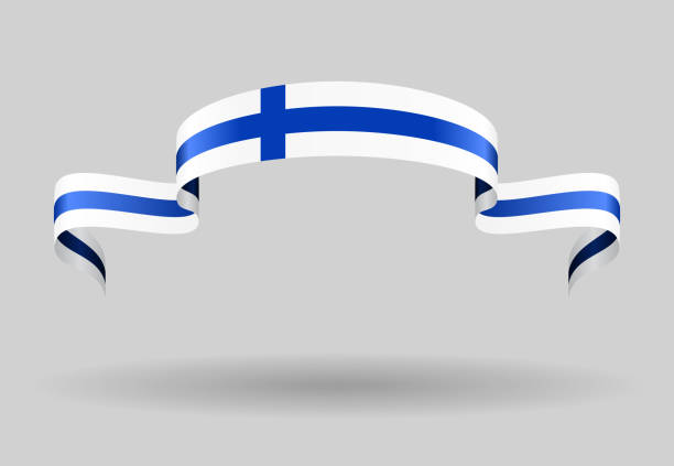 finnish flag background. vector illustration. - finnish flag stock illustrations, clip art, cartoons, & icons