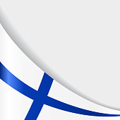 Finnish flag background. Vector illustration.
