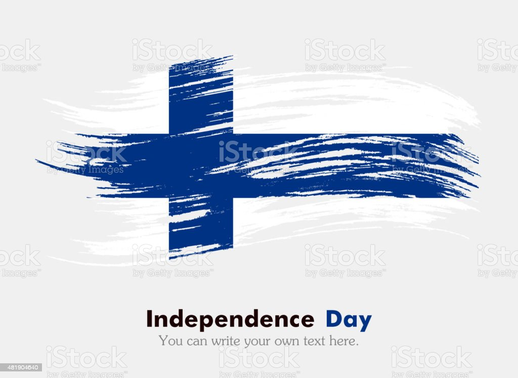 Finnish flag vector art illustration
