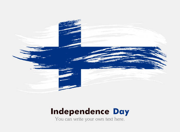 finnish flag - finnish flag stock illustrations, clip art, cartoons, & icons