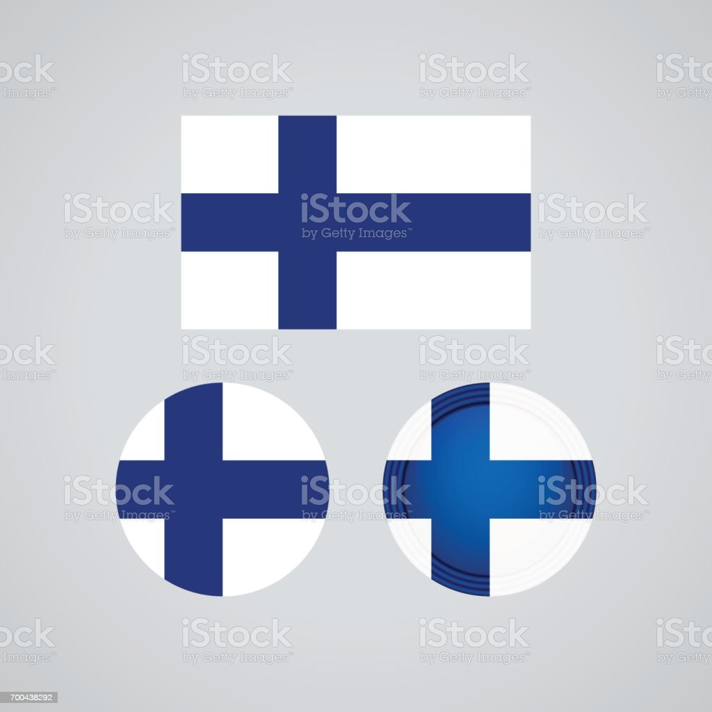 Finnish trio flags, vector illustration vector art illustration