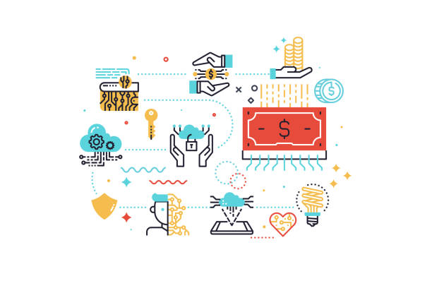 Fintech (Financial Technology) concept  illustration vector art illustration