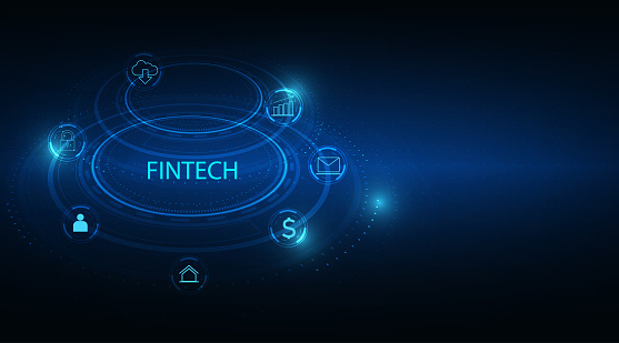 Fintech -financial technology concept.Business investment banking payment.vector illustration.