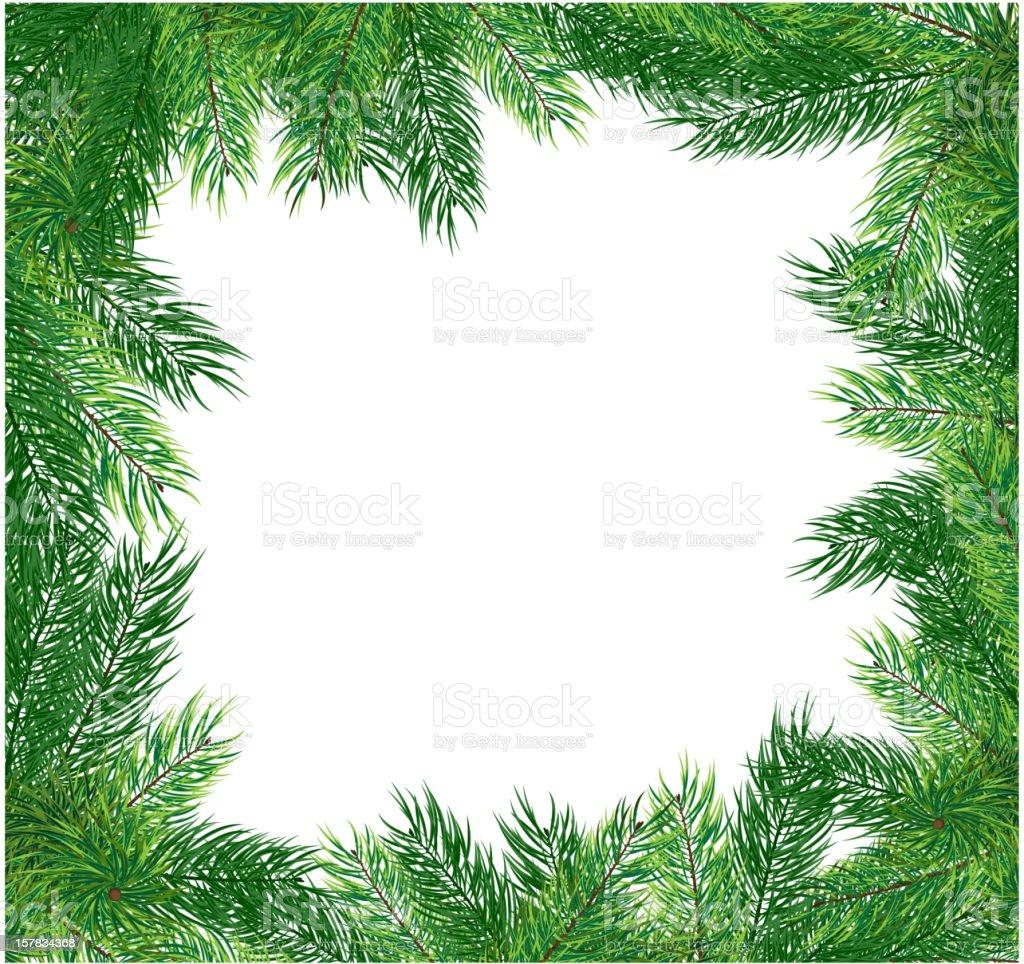 Fir branches. Christmas frame royalty-free stock vector art