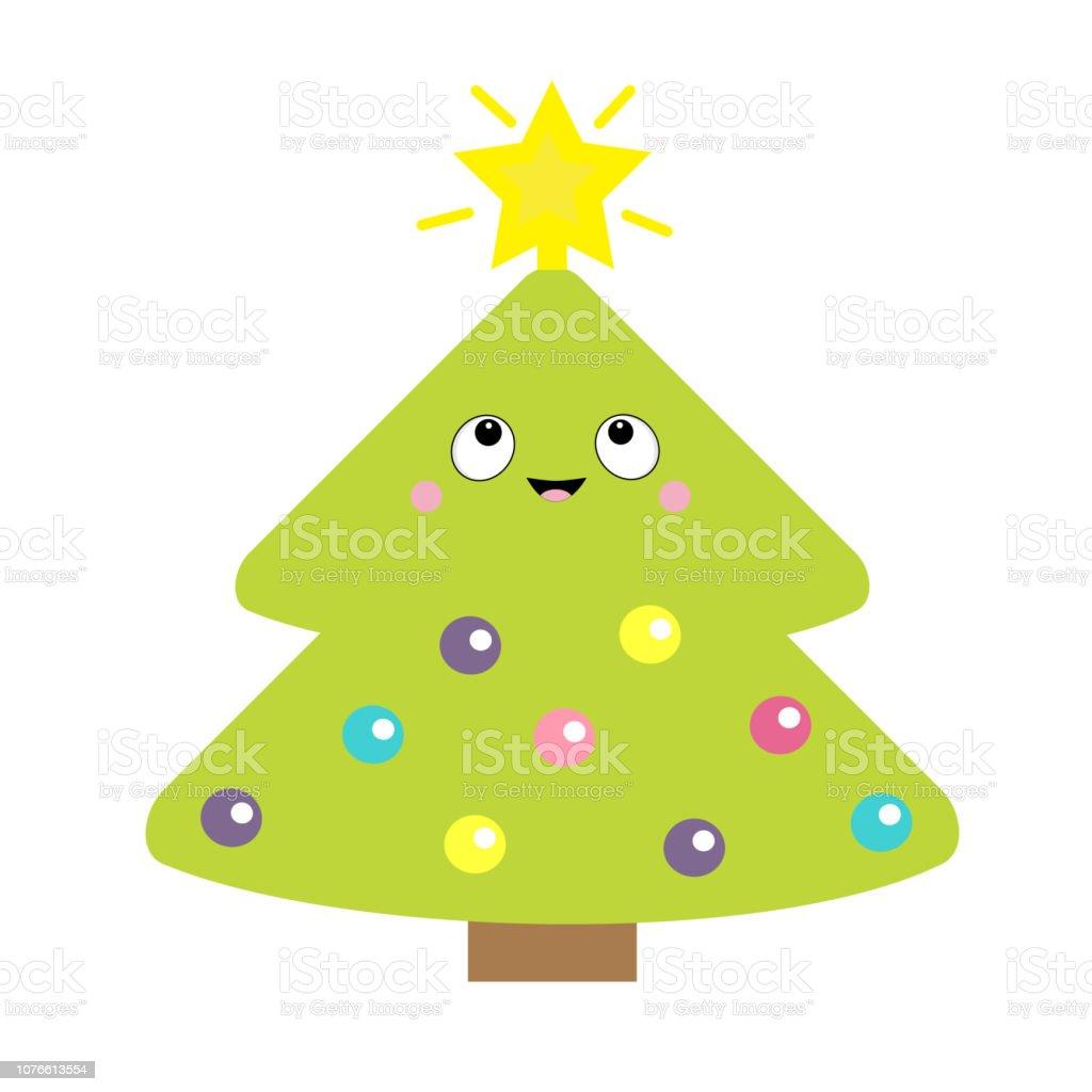 Sapin De Noël Avec Astuce étoile Jeu De Balle Léger Dessin