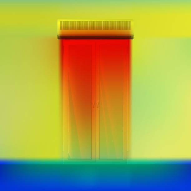 tanne vorhang über tür. - infrarotfotografie stock-grafiken, -clipart, -cartoons und -symbole