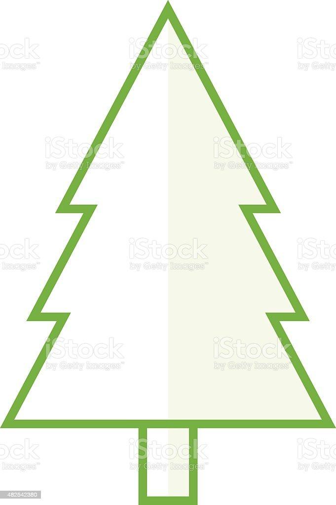 Fir Tree Outline Icon Modern Minimal Flat Design Style ...
