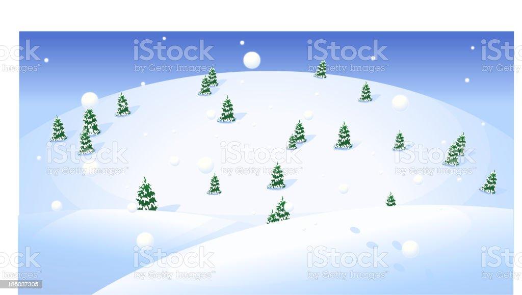 Fir trees over snowcapped landscape royalty-free fir trees over snowcapped landscape stock vector art & more images of abundance