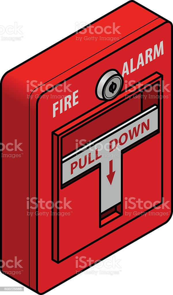 Fire Alarm vector art illustration