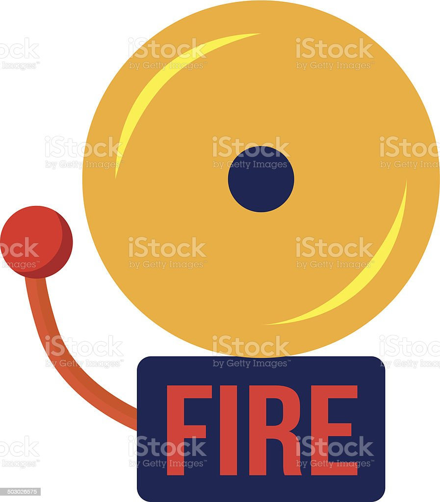 media istockphoto com vectors fire alarm vector id rh istockphoto com fire drill clip art images Workplace Fire Drill Clip Art