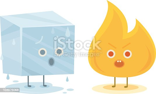 istock Fire and Ice Characters 103976068