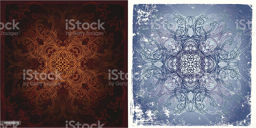 fire and ice royalty-free stock vector art