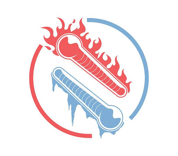 illustrazioni stock, clip art, cartoni animati e icone di tendenza di fuoco e ghiaccio - ice on fire