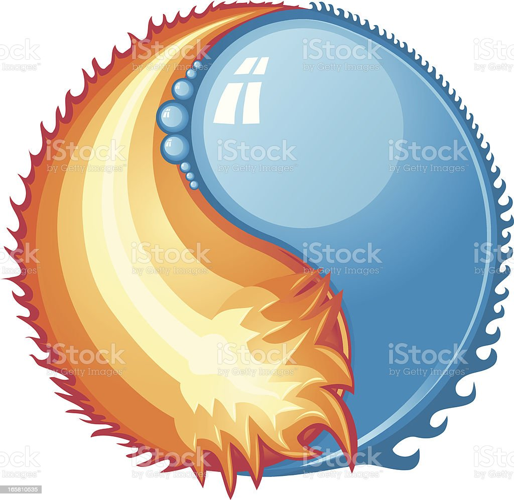 Fire and Water royalty-free stock vector art