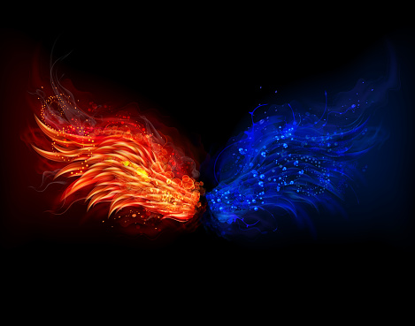 Fire and water wings