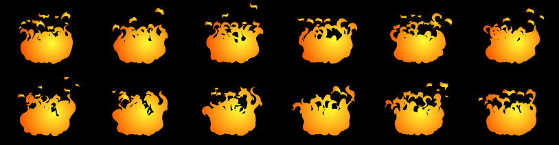 Fire animation sprite sheet