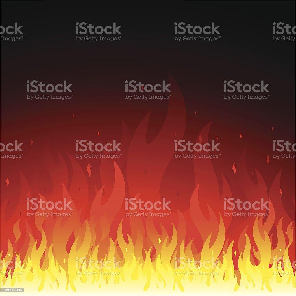 Fire background vector art illustration