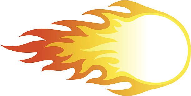 Fire ball vector art illustration