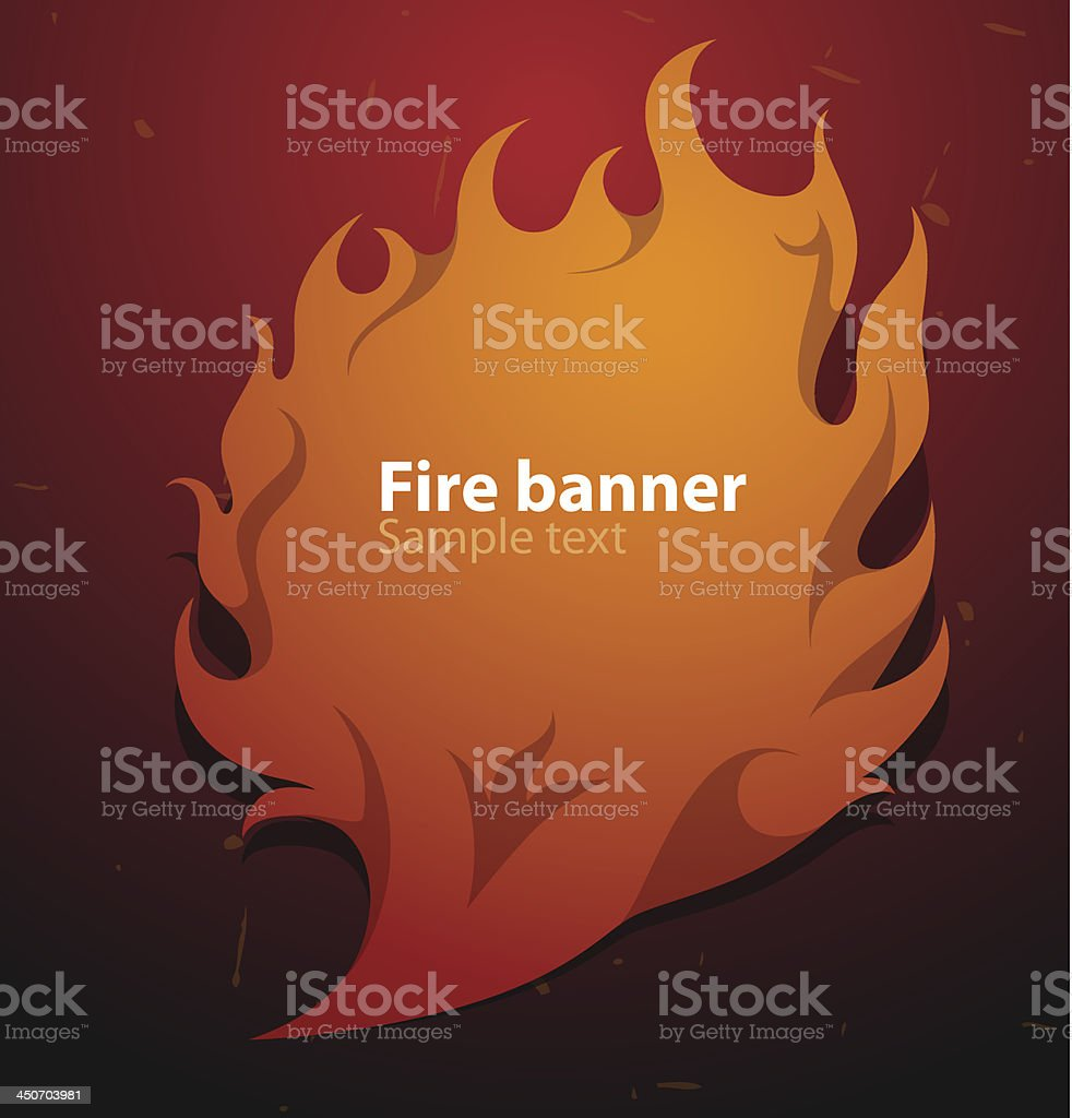 Fire banner leaf of a tree royalty-free fire banner leaf of a tree stock vector art & more images of abstract