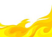 fire background design border template copy space