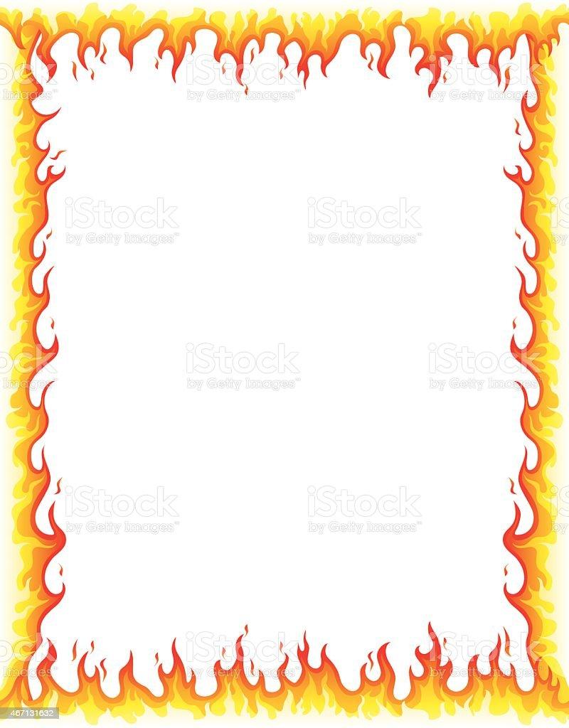 Fire Border Stock Vector Art  for Fire Border Clip Art  269ane