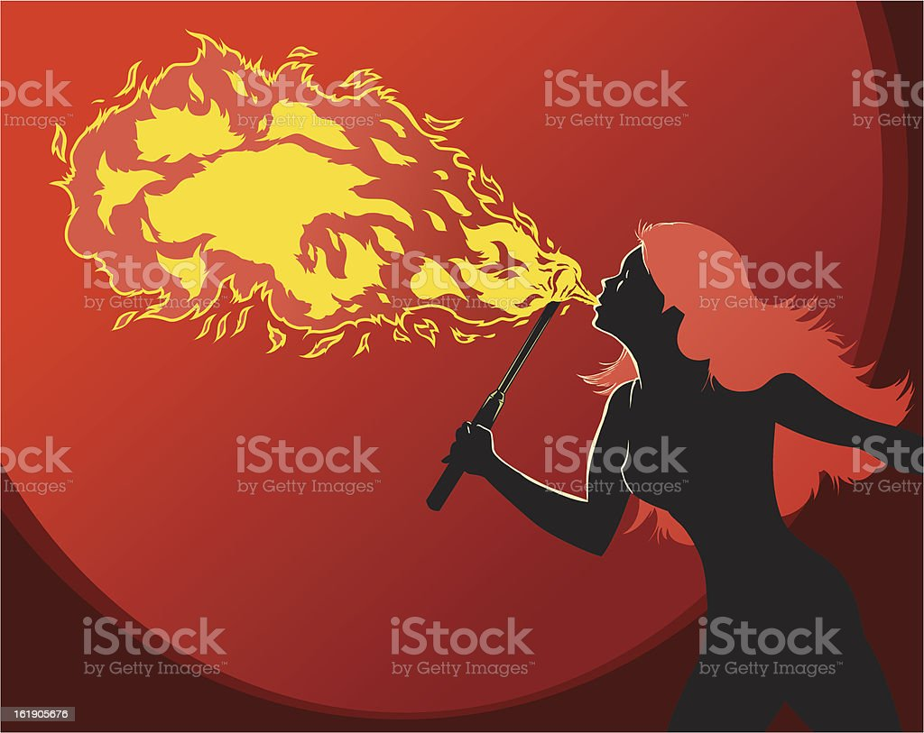 Fire Breather royalty-free stock vector art