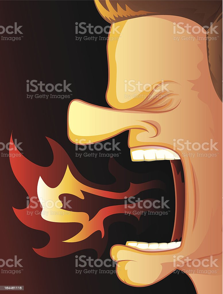 Fire Breather vector art illustration