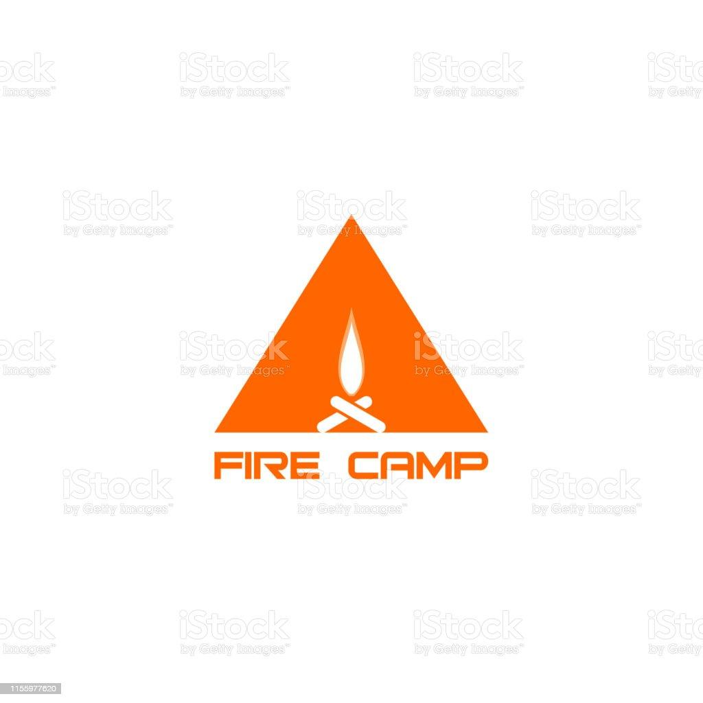 Fire Symbol Silhouette in Triangle Shape