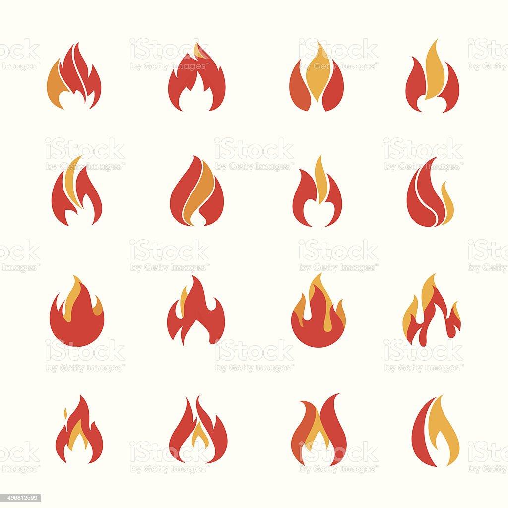 Fire Farbe Icons Vektor Illustration 496812569 | iStock