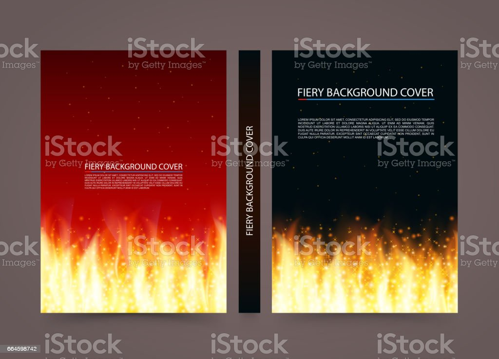 Fire cover background, A4 size paper, Vector illustration vector art illustration