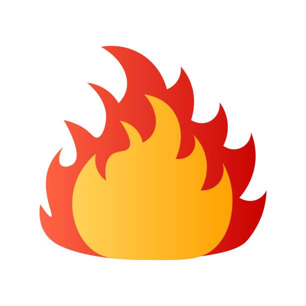 ilustrações de stock, clip art, desenhos animados e ícones de fire danger flat icon isolated on white background - inflamável