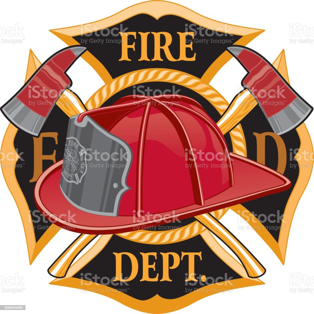 Fire Department Cross Symbol vector art illustration