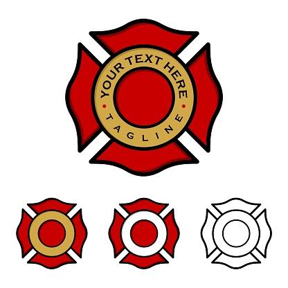 Fire Department Emblem Illustration Design. Vector EPS 10.