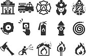 Fire Department icons - Illustration