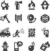Fire Department Silhouette Icons