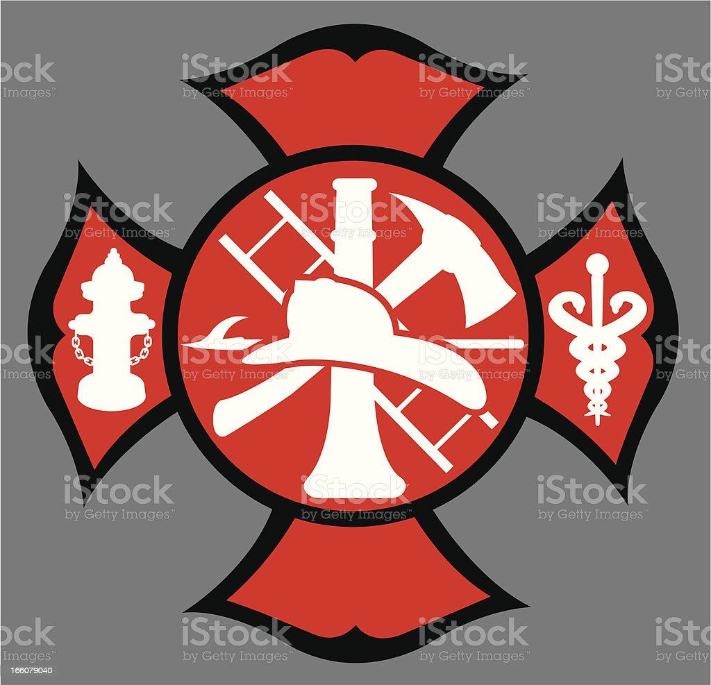 Fire department symbol stock vector art 166079040 istock fire department symbol royalty free stock vector art buycottarizona Images