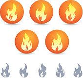 fire icon design element set