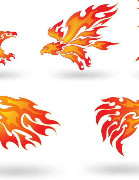火災イーグル - 炎のタトゥー点のイラスト素材/クリップアート素材/マンガ素材/アイコン素材