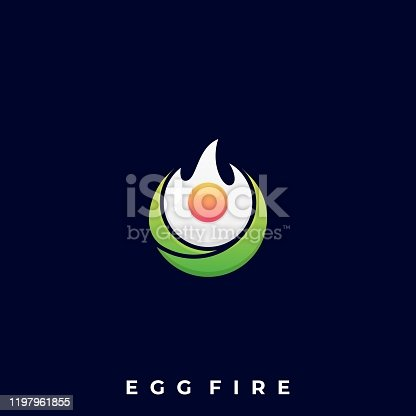 istock Fire Egg Illustration Vector Template 1197961855