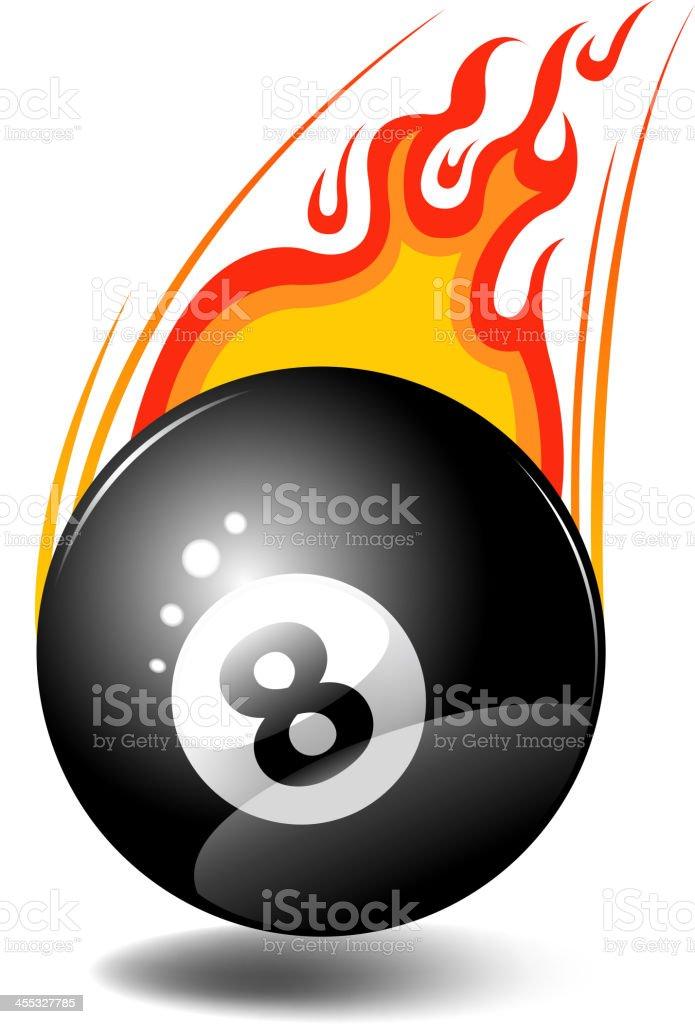 fire eight ball vector art illustration