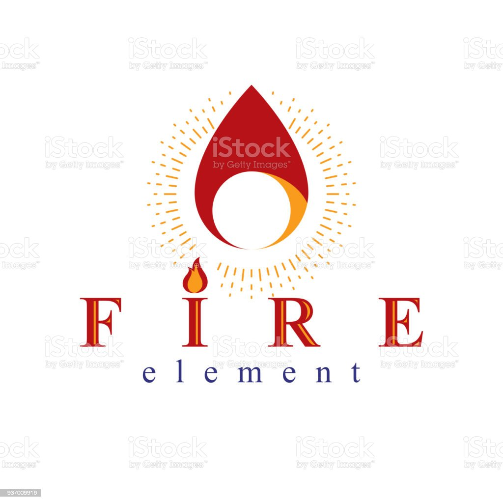 Fire Element Abstract Sign For Use As Petrol Corporate Emblem Oil